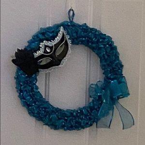 Madi gras Wreath
